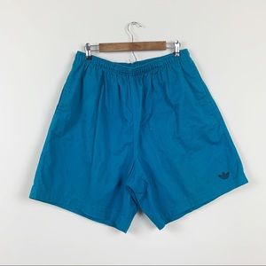 Vintage 80s Adidas Cotton Classic Logo Shorts XL